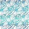 Векторный клипарт: Бесшовные со стилизованными абстрактных ракушек