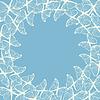 Векторный клипарт: Круглая рамка с декоративными бабочками