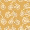 Векторный клипарт: Бесшовные с наброски старинных велосипедов