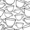 Векторный клипарт: Бесшовные с чашками