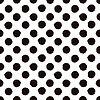 Векторный клипарт: Горошек черный и белый окрашены бесшовные модели