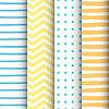 4 gemalt geometrische Muster eingestellt | Stock Vektrografik