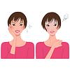 Векторный клипарт: Женское лицо