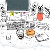 Векторный клипарт: мой стол