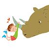 Векторный клипарт: моя лучшая подруга носорог