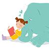 Векторный клипарт: мой лучший друг слон