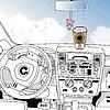 Векторный клипарт: водительское сиденье