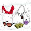 Векторный клипарт: предметы моды