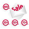 Векторный клипарт: продажи в конверте