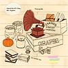 Векторный клипарт: старинные опоры с фонографа