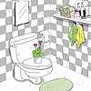 Векторный клипарт: ванная эскиз