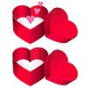 Векторный клипарт: сердца коробка подарка