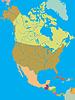 Politische Karte von Nordamerika