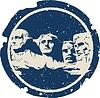 Векторный клипарт: Гора Рашмор
