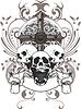 Векторный клипарт: черепа и крест