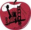 Векторный клипарт: Нью-Йорк Big Apple