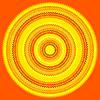 Abstrakt ethnische Art-Kreis Einfache Farb Needlewor