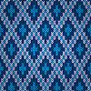Niebieski bez szwu deseń z dzianiny   Stock Vector Graphics