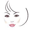 아름 다운 여자 얼굴 | Stock Vector Graphics