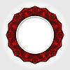 Abstrakte weiße runde Rahmen mit Red Digital-Border