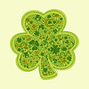 St. Patrick-Tageskarte der grünen Objekte
