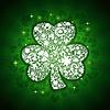 St. Patrick-Tageskarte von weißen Objekten auf Glanz