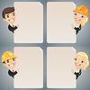 Geschäftsleute Cartoon Charaktere Blick auf leere