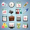 Office Equipment Icons Set1. | Stock Vektrografik