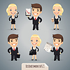 Business Cartoon Charaktere Set1.