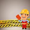 Builder mit Gefahr Tapes