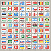 Set Welt-Staaten-Flags