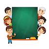 Lehrer, die leeren Tafel