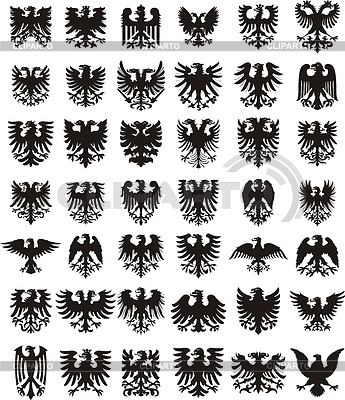 Wappenadler Silhouetten | Stock Vektorgrafik |ID 4223440