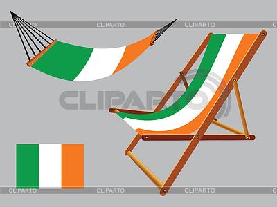 Ирландия гамак и шезлонг на фоне сером