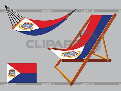 Saint Martin hamak i krzesło zestaw | Klipart wektorowy |ID 4150518