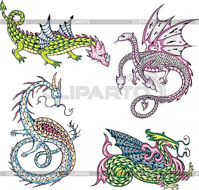 Mythischen Drachen | Stock Vektorgrafik |ID 4089134