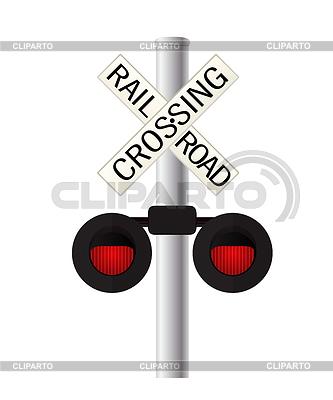 Bahnübergang Zeichen | Stock Vektorgrafik |ID 4354283