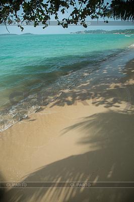 Idyllischen tropischen Strand mit weißem Sand | Foto mit hoher Auflösung |ID 4129963