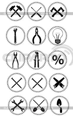 Narzędzia ikony | Klipart wektorowy |ID 4192067