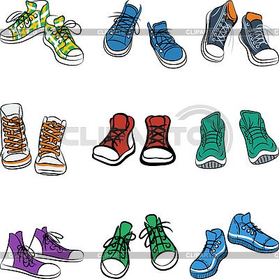 Кроссовки рисованные