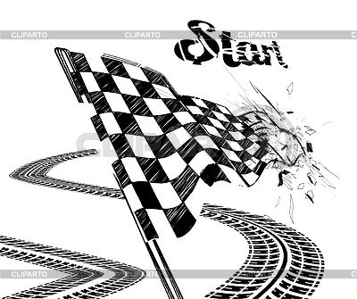 Rysunek flagi z szachownicą z toru opony | Klipart wektorowy |ID 4327647