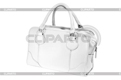 Preview ladies fashionable white leather handbag | Foto stockowe wysokiej rozdzielczości |ID 4086031