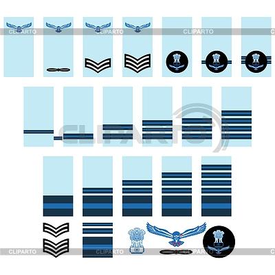 Indische Luftwaffe Insignien | Stock Vektorgrafik |ID 4387537