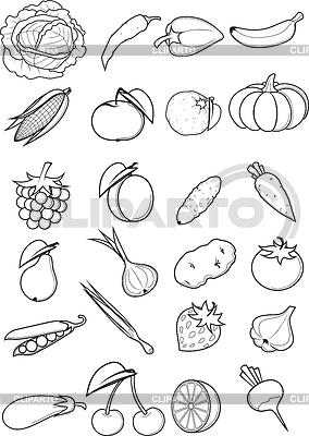 Set von Obst und Gemüse | Stock Vektorgrafik |ID 4359228