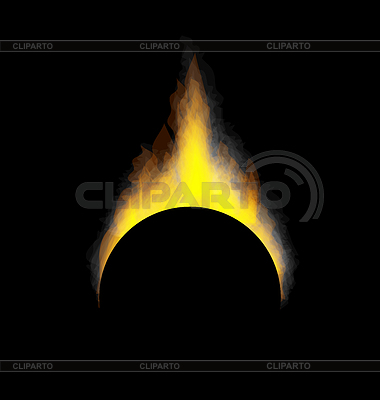 Brennendes Feuer Flamme | Stock Vektorgrafik |ID 4257128