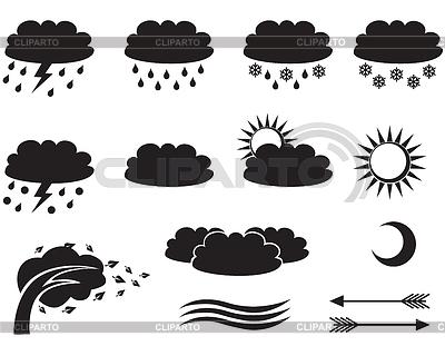 Weather symbols | Klipart wektorowy |ID 4094680