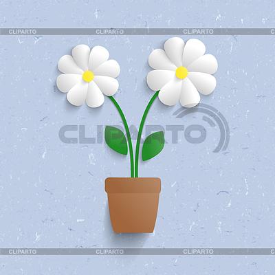 3d paper flowers | Klipart wektorowy |ID 4245155