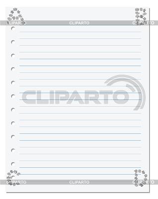 Notebook paper with letters B C D in corner compose | Foto stockowe wysokiej rozdzielczości |ID 4413260