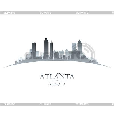 Stadt Atlanta Georgia Skyline Silhouette weiß | Stock Vektorgrafik |ID 4105866