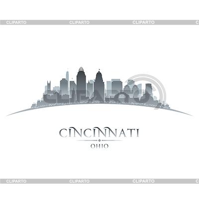 Cincinnati Ohio Stadt Silhouette weißen Hintergrund | Stock Vektorgrafik |ID 4132190